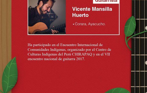 Vicente Mansilla: guitarra y voz para el mundo